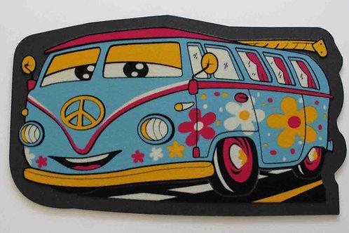 Felpudo caravana hippie