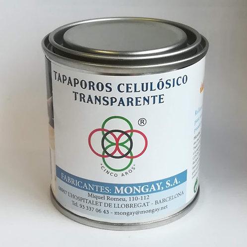 """LACA TAPAPOROS CELULÓSICO TRANSPARENTE """"Cinco Aros"""" 125 ml de Mongay"""