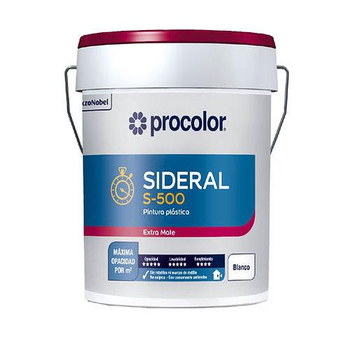 Pintura Plástica SIDERAL S-500 color Blanco Extra Mate 15L de Procolor