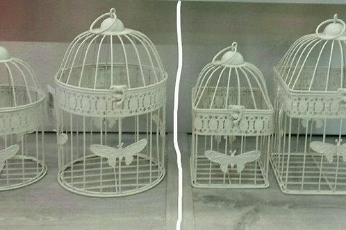 Juego de dos jaulas decorativas