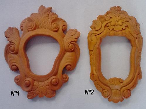 Lote dos marcos resina poliuretano p/pintar MR18