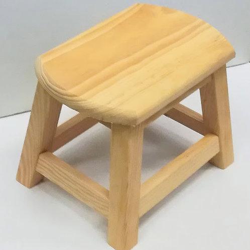 Banqueta o taburete, minibanqueta de madera natural de 22 cm de altura