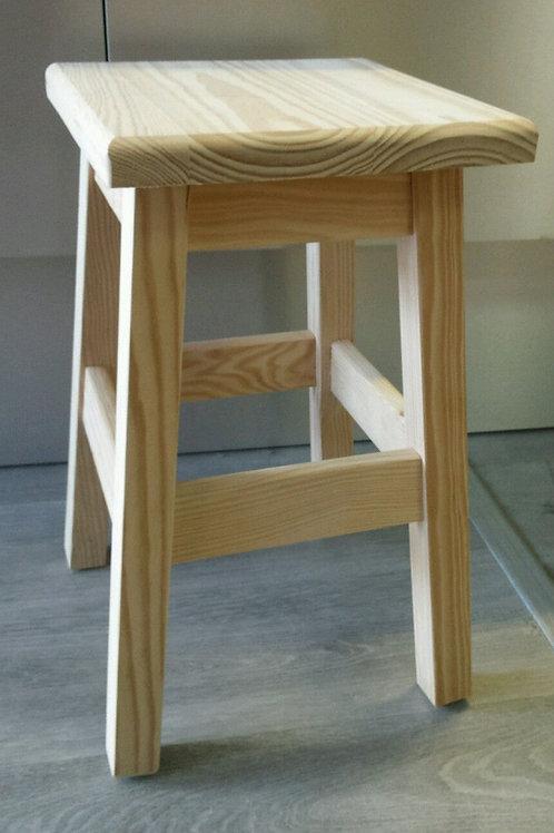 Taburete madera maciza alto 50 cm