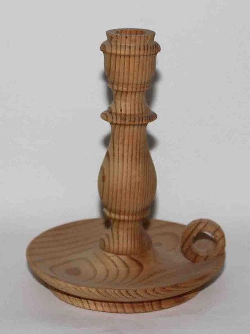 Palmatoria o portavela de madera natural 16 cm