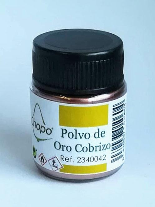 Polvo de Oro Cobrizo, Purpurina en polvo color Cobre 10 gr