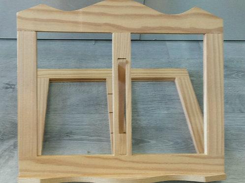 Atril de madera de pino macizo 36×31,5 cm