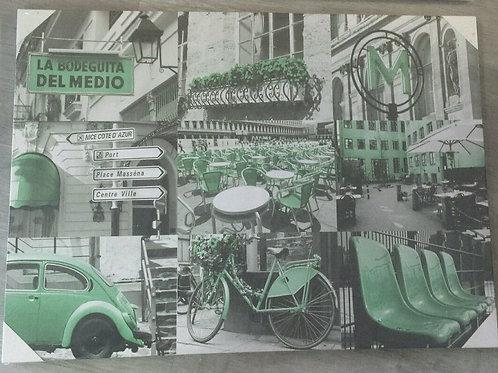 Cuadro tela lienzo urban cuba verde