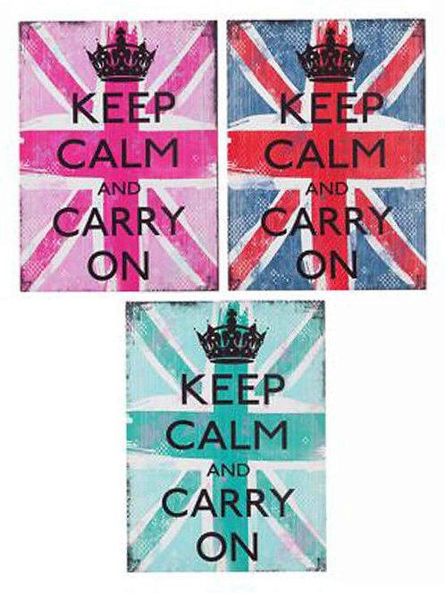 "Cuadro en tela lienzo ""KEEP CALM AND CARRY ON"""