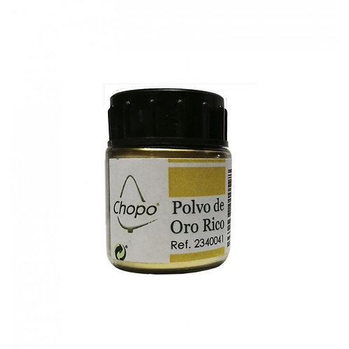 Polvo de Oro Rico, Purpurina en polvo color Oro 10 gr