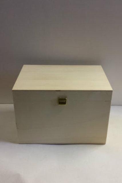 caja de madera multiusos con asa opcional