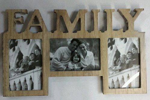 Marco fotos family madera de 10x15 cm