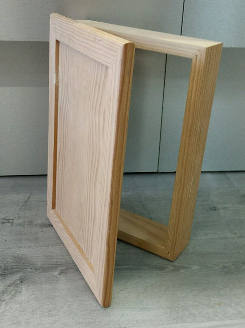 Tapacontador cuadro de luz de madera maciza 45x35 cm