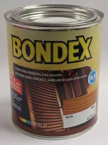 Lasur para madera BONDEX AL AGUA SATINADO 0,75 L.