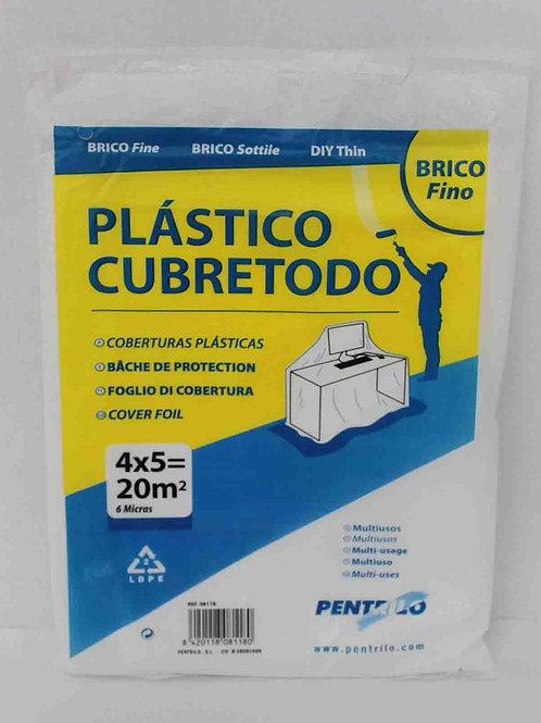 Plástico Cubretodo Fino 4x5, 6 micras de Pentrilo