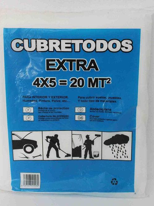 Plástico Cubretodos Extra 4x5 m
