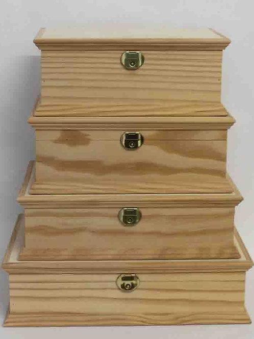 Caja de madera multiusos, varios tamaños