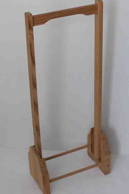 Toallero de pie en madera natural 72 cm alto