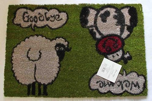 """Felpudo coco, Vaca y oveja, """"Welcome y Goodbye"""""""