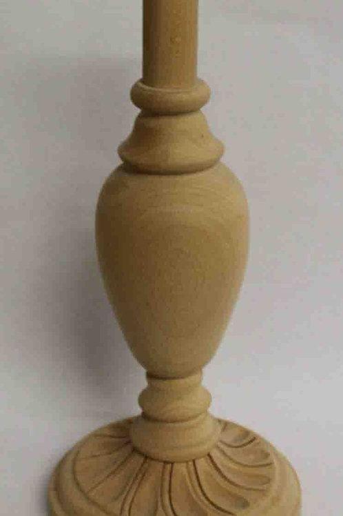 Pie de lámpara o Portalámparas de madera natural