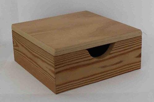 Servilletero de madera con tapa