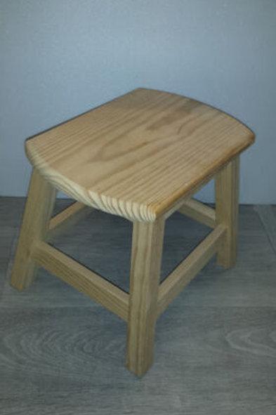 Banqueta o taburete, minibanqueta de madera natural de 24 cm de altura
