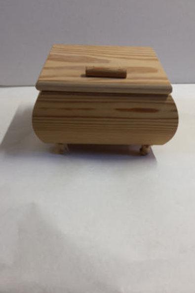 Caja joyero de madera