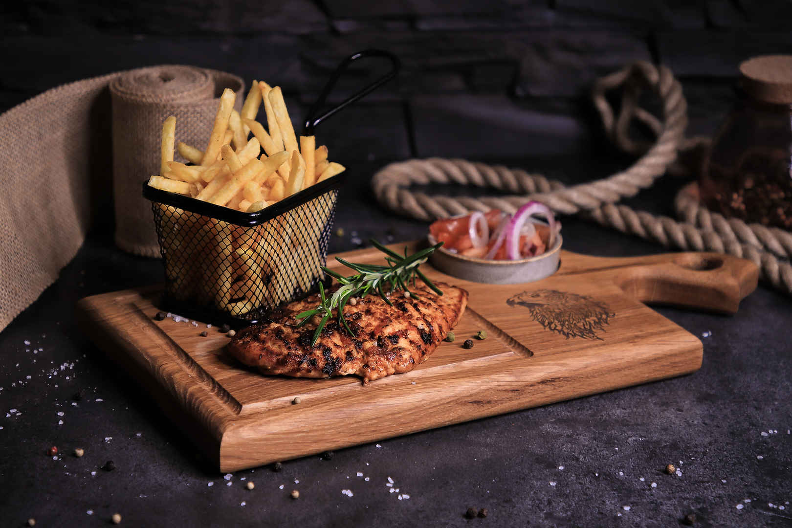 Vanaga Ligzda ēdienkarte