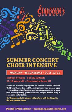 PCC Summer Concert Choir Intensive Half