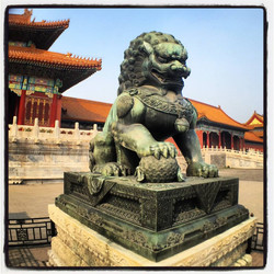FOL China under Foo Dog foot