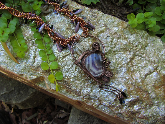 Fear the Reaper Amethyst Bauble Necklace