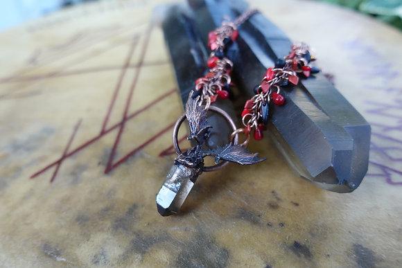 Smoky Quartz Dragon Tears Bauble Necklace
