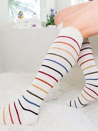 White Light Rainbow Knee High