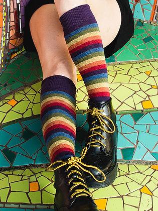 Iris Rainbow Stripe Knee High