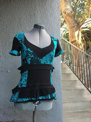 Aqua and Black Mannequin Top