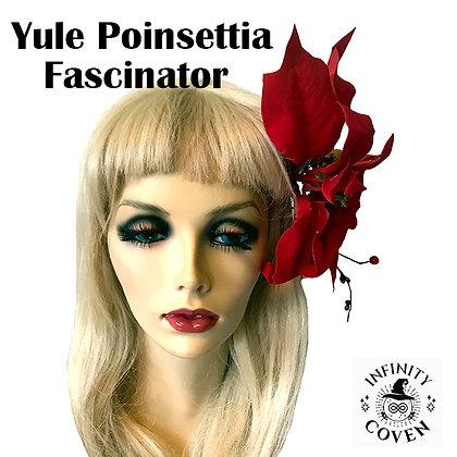Yule Poinsettia Fascinator