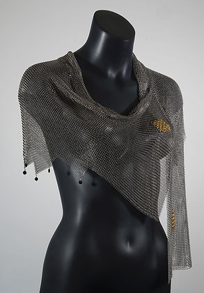 Elegant Chain Mail Shawl