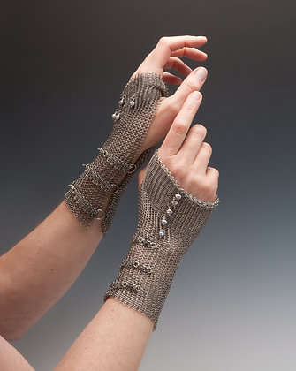 Chain Mail Fingerless Gloves