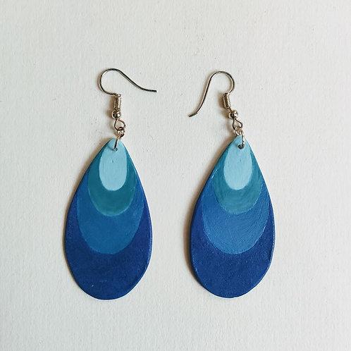4-tone blue drop earrings (M)