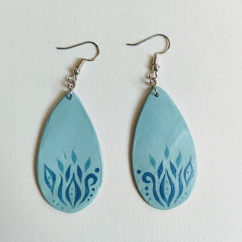 Green blues drop earrings (M)
