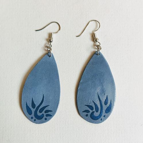 Denim drop earrings (M)