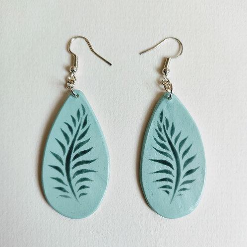 Fern drop (M) earrings