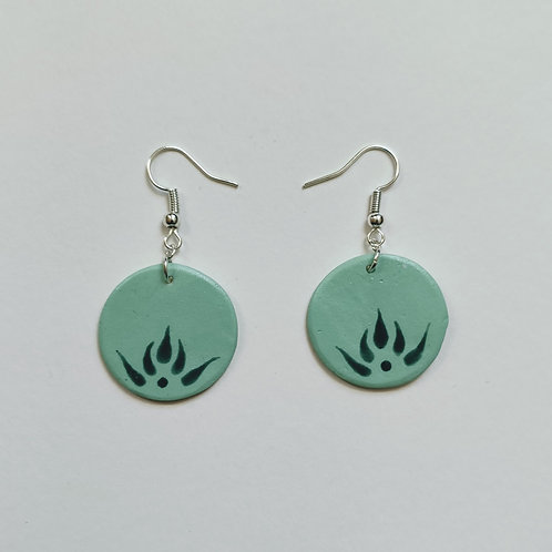 Botanical circle earrings (M)