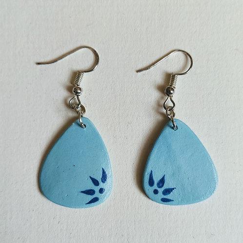 Jade-teal pick earrings