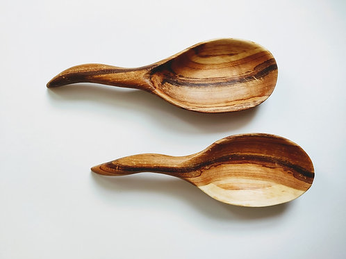 Pair of appetizer serving dishes