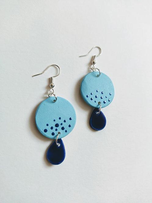 Blue and cobalt earrings