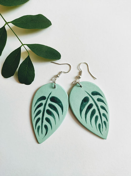 Leaf earrings (L)