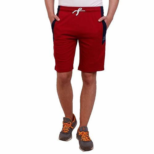 Maroon Regular Fit Shorts