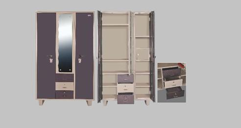 Raka furniture - Three door & three drawer