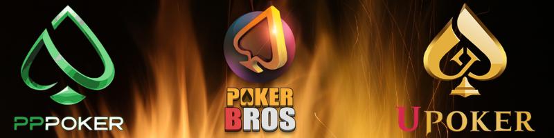 pppoker, pokerbros, upoker