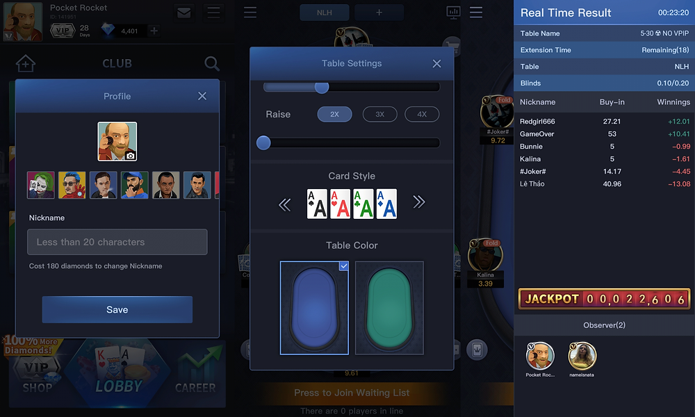 X-Poker Features